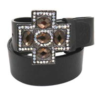 WHOLESALE RHINESTONE CROSS BUCKLE BELT